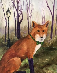 """Mr. Fox"" 20 x 16 acrylic"