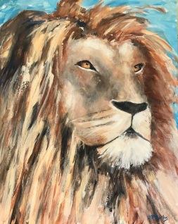"""Aslan"" 20 x 16 acrylic"
