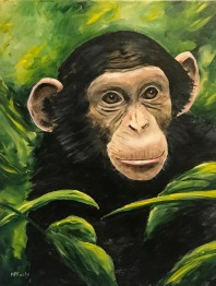 """My Monkey"" 20 x 16 acrylic"