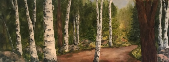 """The Road Home"" 48 x 24 o/c"