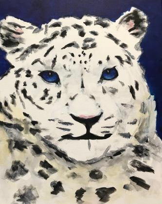 """""""Snow"""" 16 x 20 acrylic"""